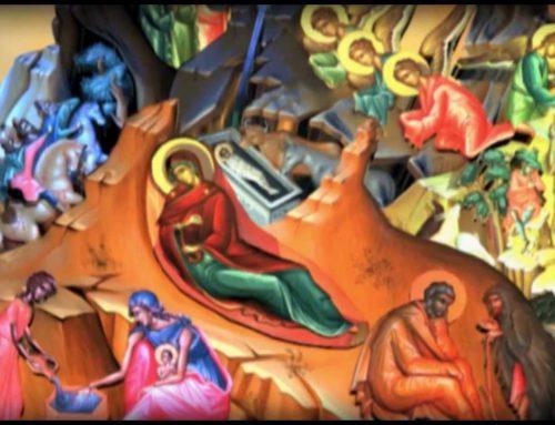 Χριστούγεννα. Ερμηνεία στην εικόνα της Γεννήσεως του Χριστού κατά την ορθόδοξη βυζαντινή παράδοση.